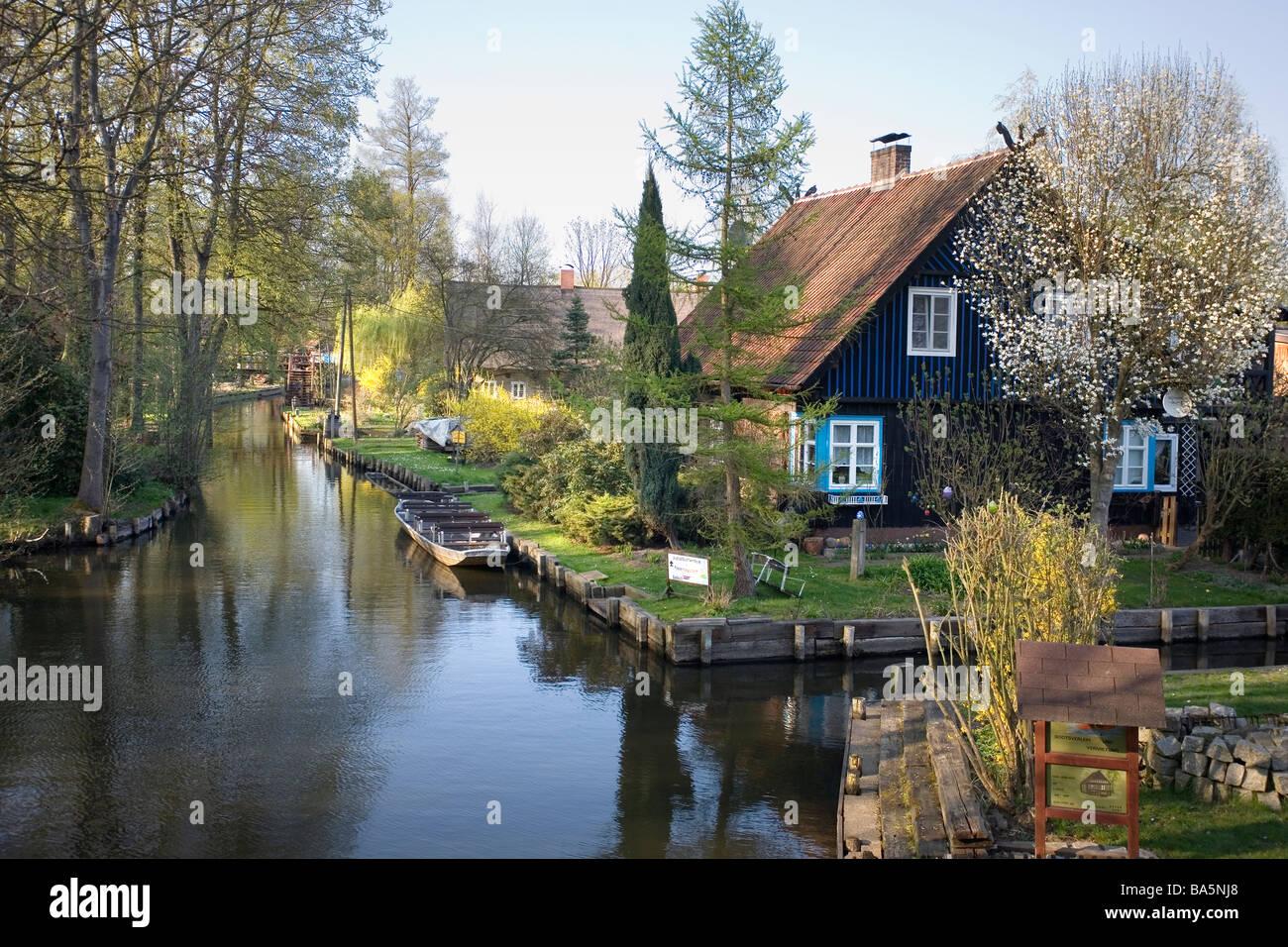 Lehde, Spreewald, Brandenburg, Deutschland Stockfoto, Bild ...