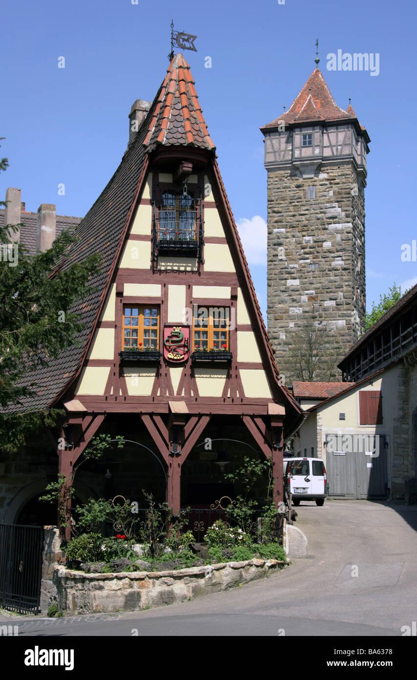 Deutschland-Bayern-Rothenburg ob Röderturm Europa das deafer Dinge ...