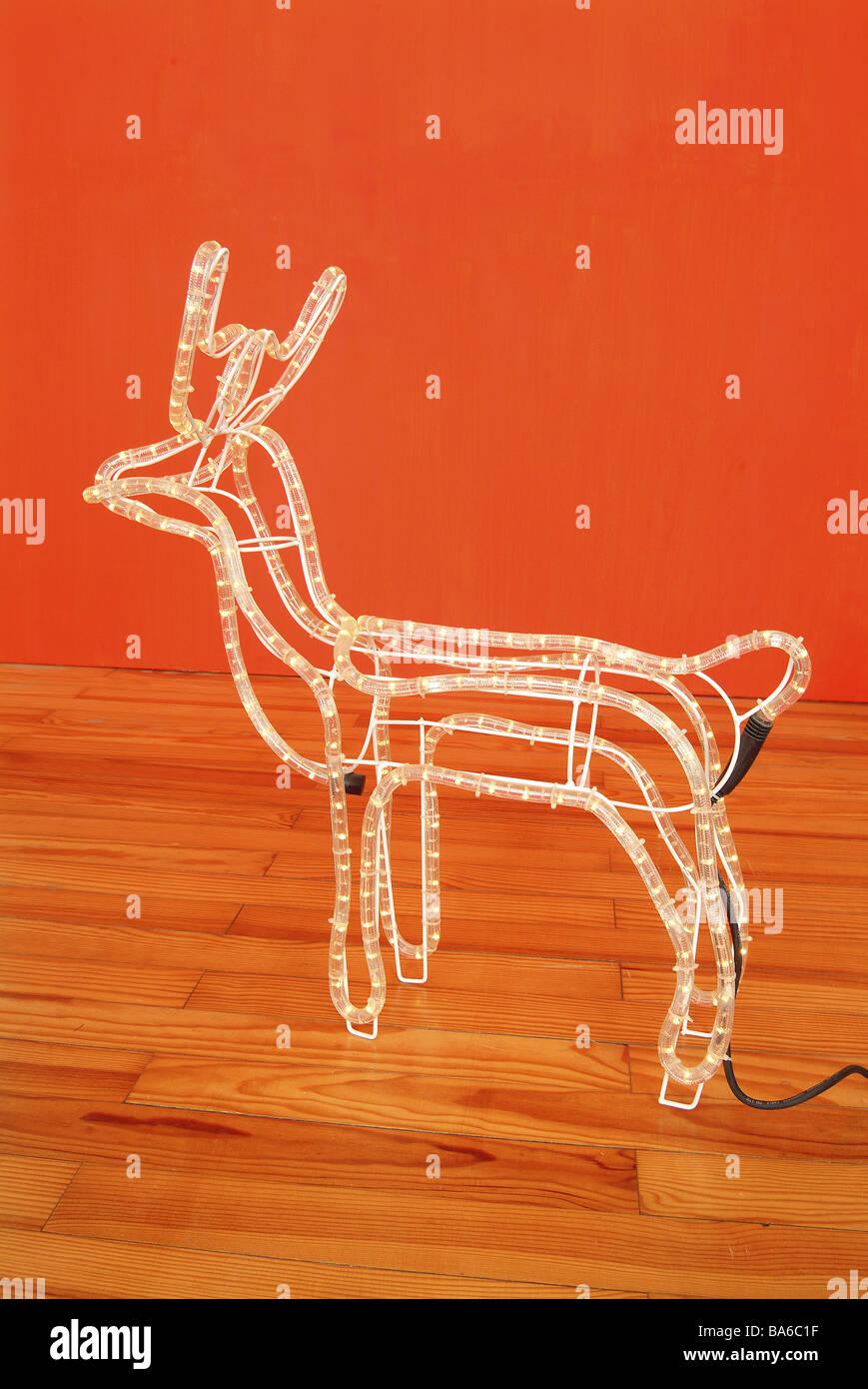 Weihnachts Lichterkette Rentier Advent Holz Boden Weich Nacht