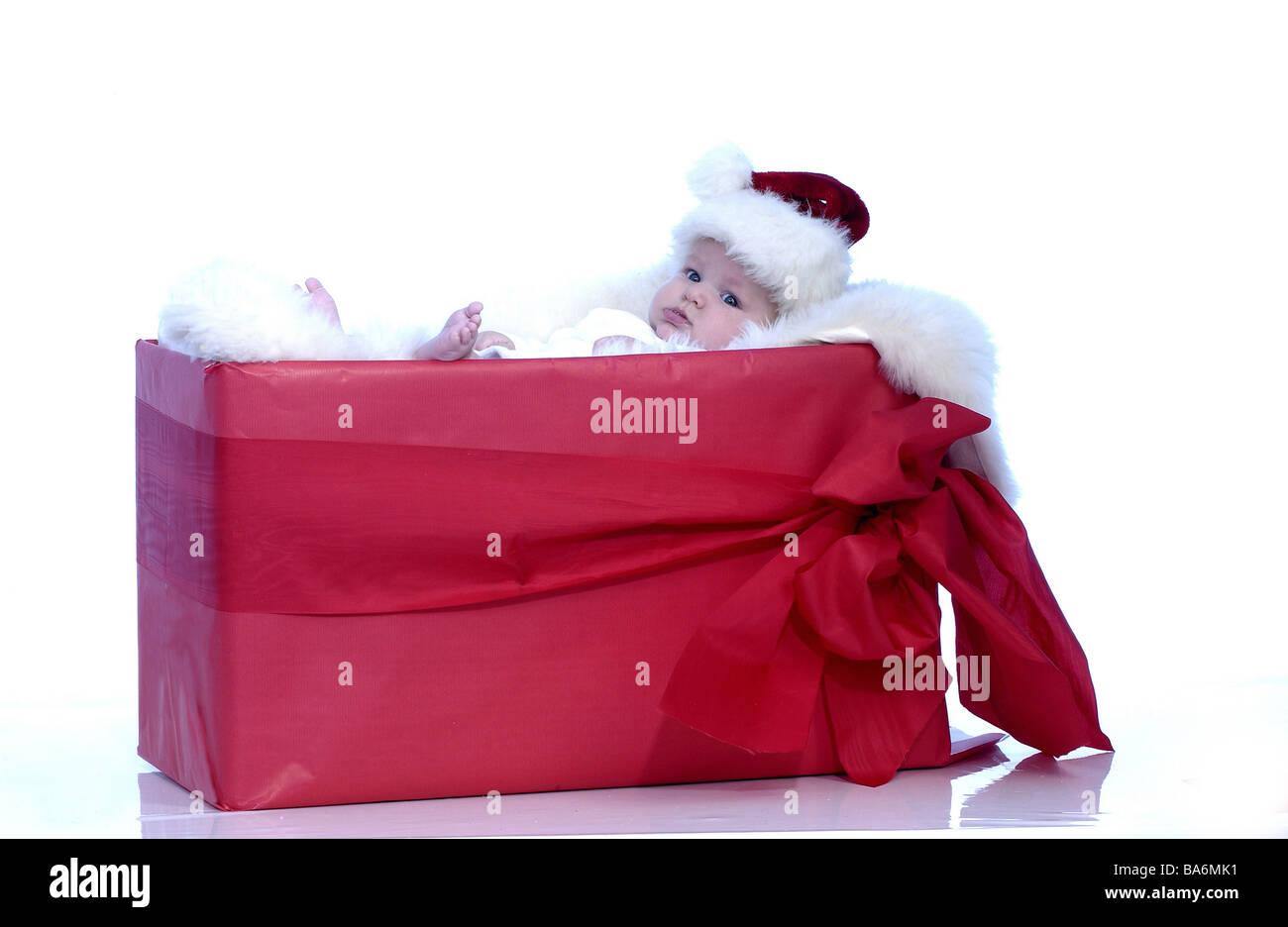 Weihnachten Baby Nikolaus Mütze Geschenk Paket Weihnachten