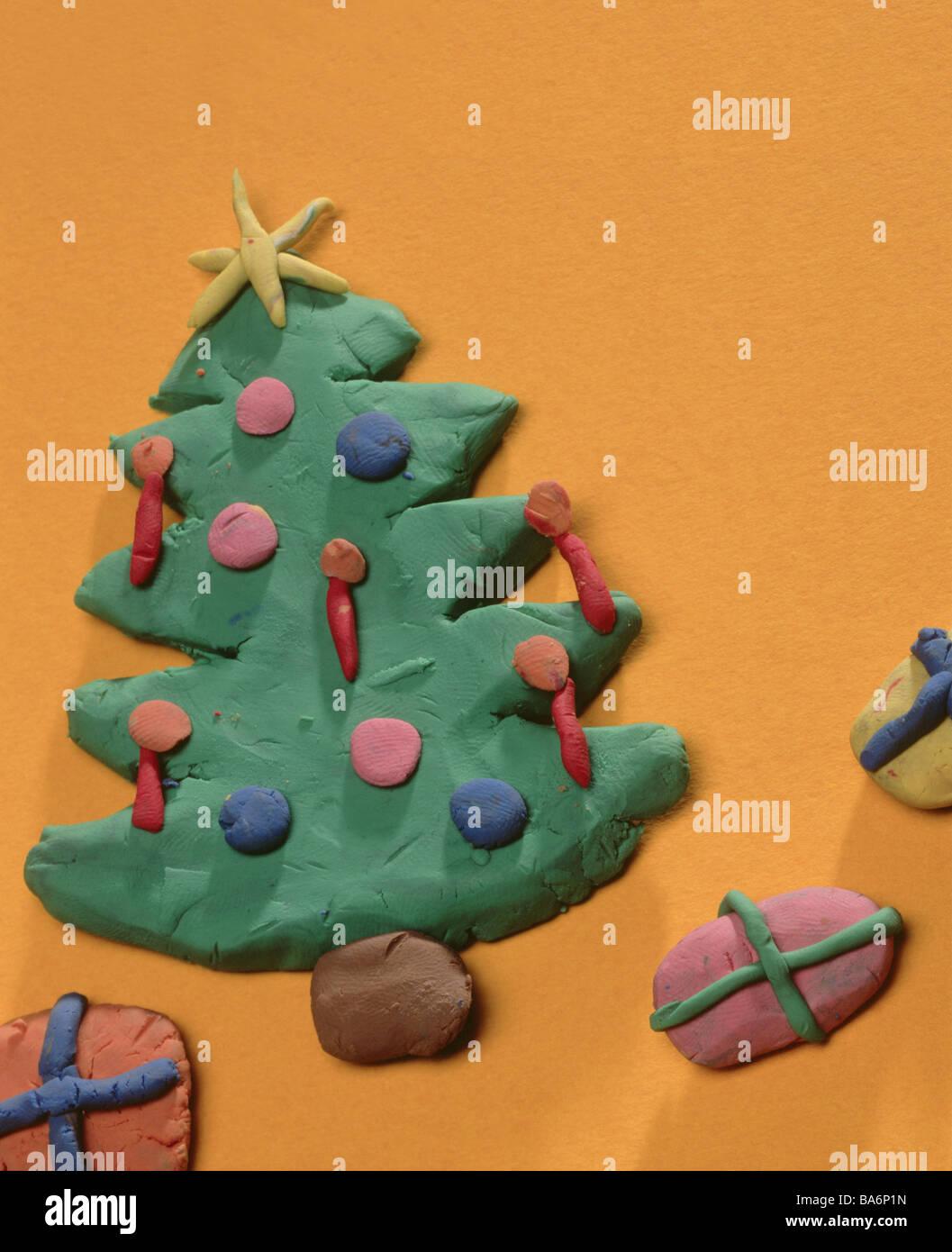 Knetmasse Weihnachtsbaum Geschenke Basteln Kreativitat Kindheit