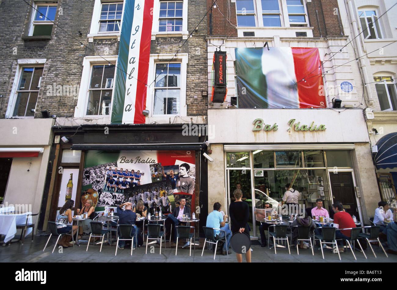 Großbritannien England, Die Modelle Street Café Keine Freigabe Hauptstadt  Frith Street Reihe Der Gäste Beherbergt