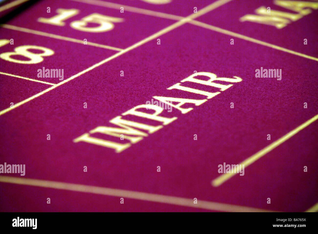 Casino Glücksspiel Roulette Karte Tabelle Detail Wertminderung ...