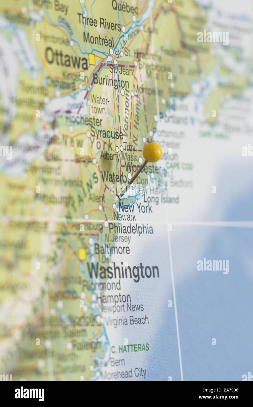 Karte Von Amerika Detail New York Karte Nordamerika Ost Kuste Nord