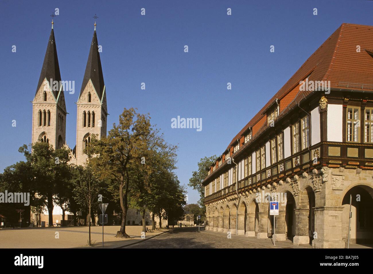 Domplatz, Domplatz, Halberstadt, Harz Mountains, Deutschland Stockbild