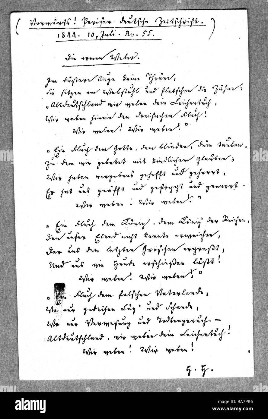 Heine gedicht weber