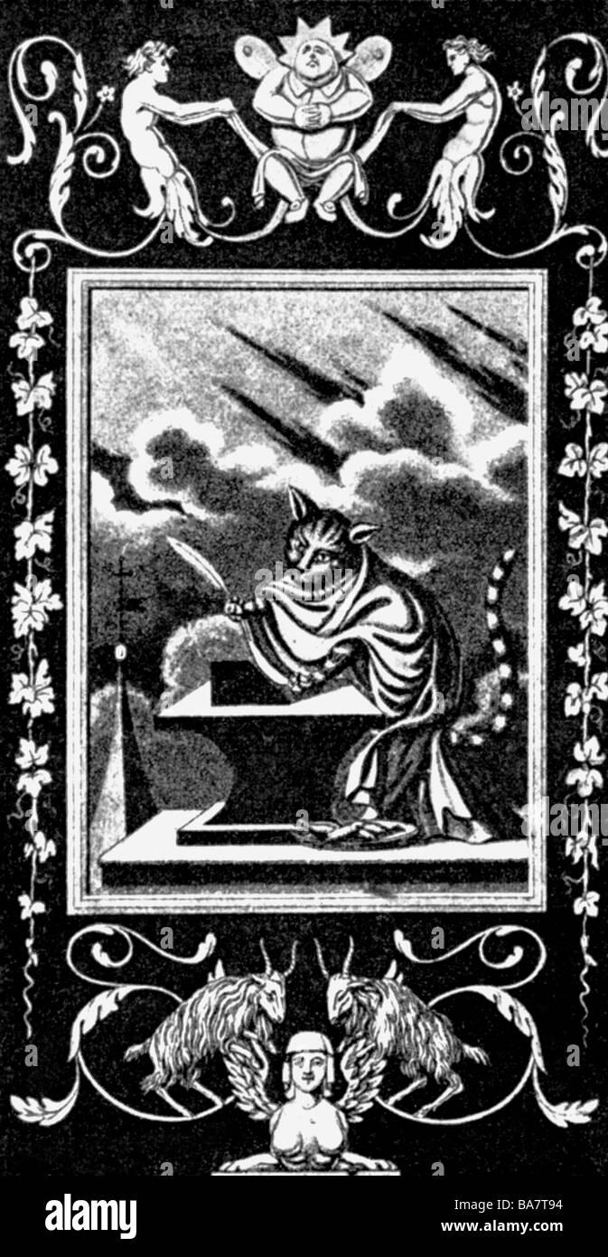 Hoffmann, E.T.A., 24.1.1776 - 25.6.1822, deutscher Autor/Verfasser (Dichter), Cover von 'Leben und Meinungen Stockbild