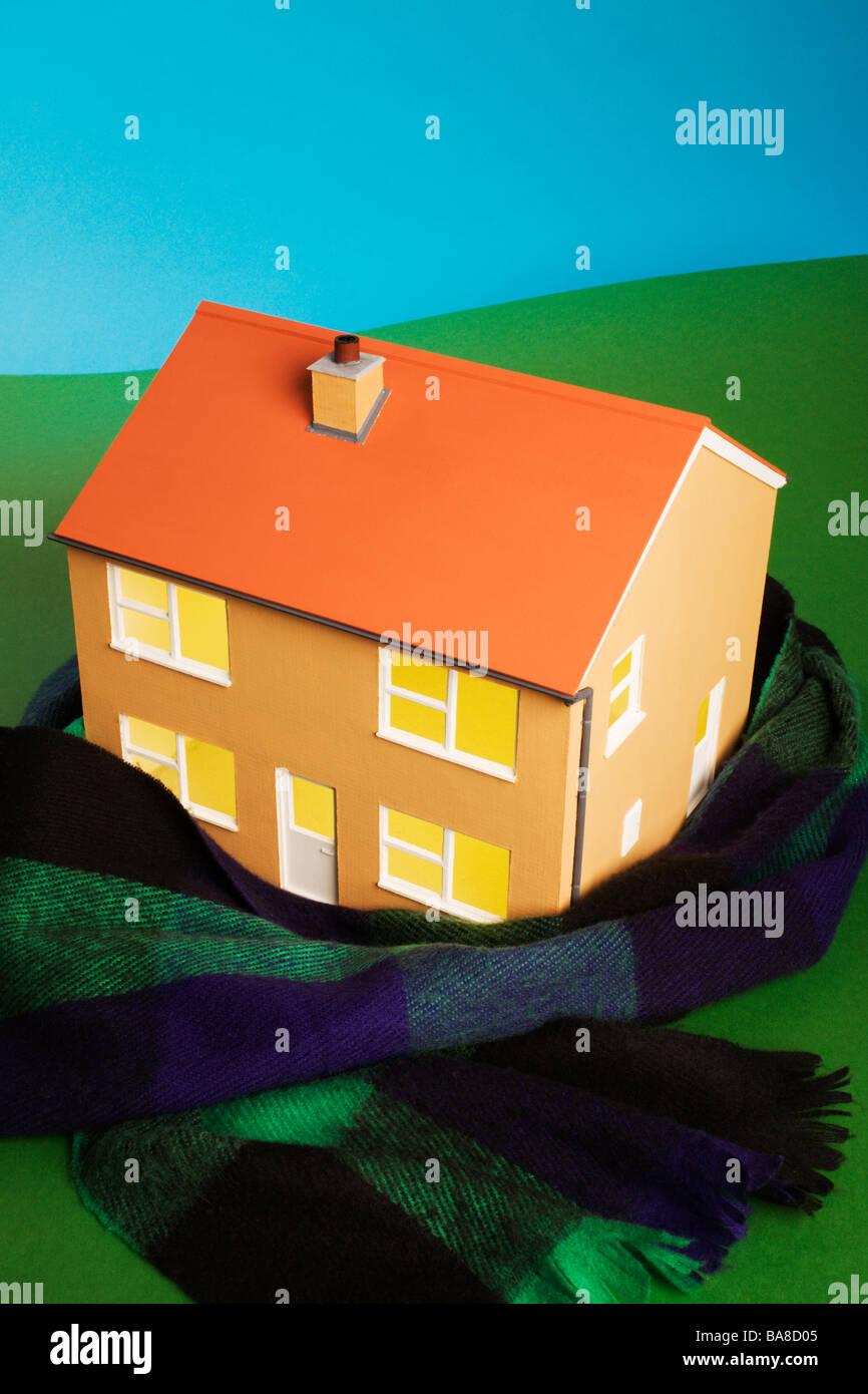 Haus warm Konzept zu halten. Stockbild