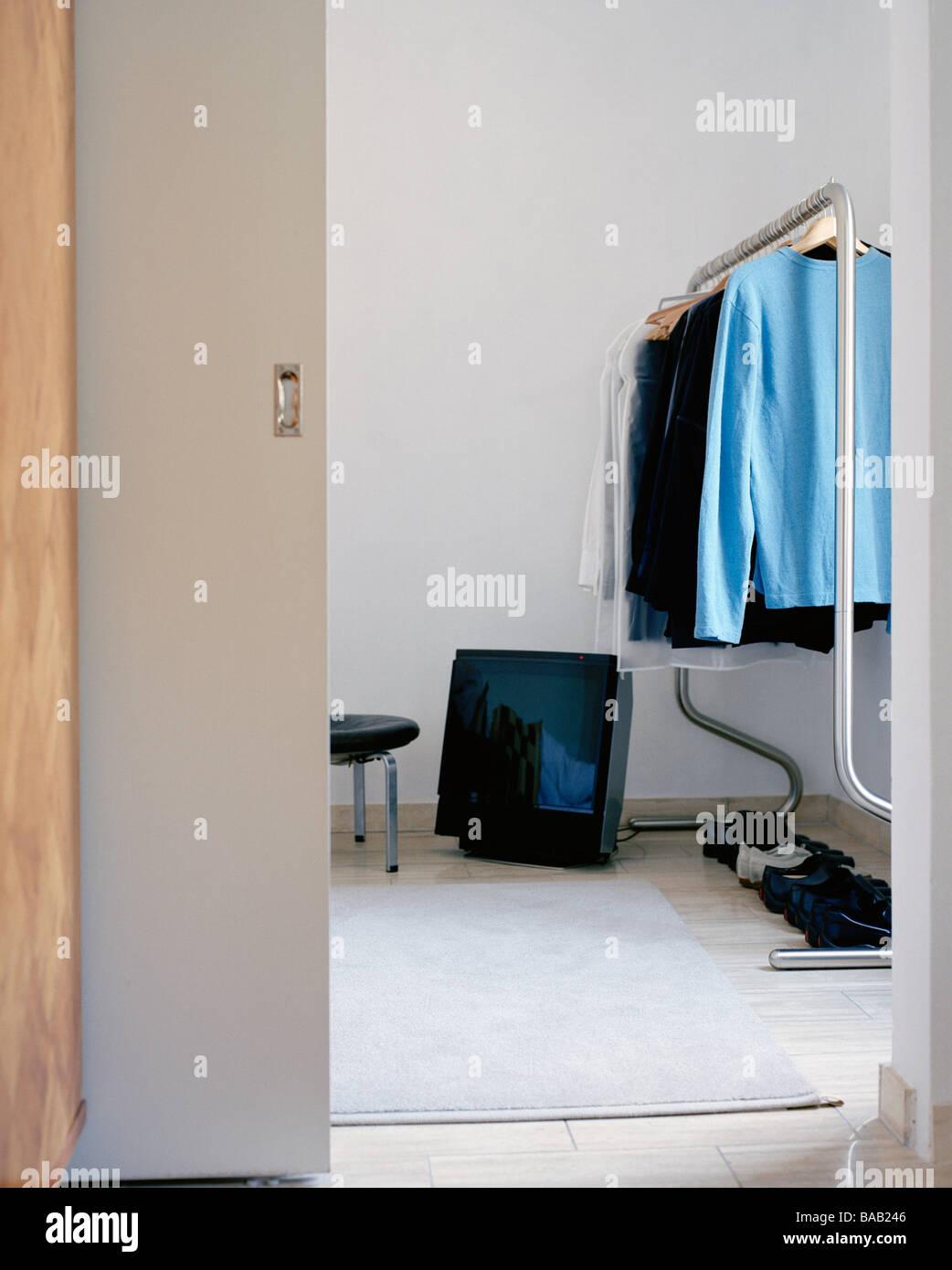 Fesselnde Fernseher Für Schlafzimmer Dekoration Von Ein Auf Dem Boden Im Schlafzimmer, Schweden.