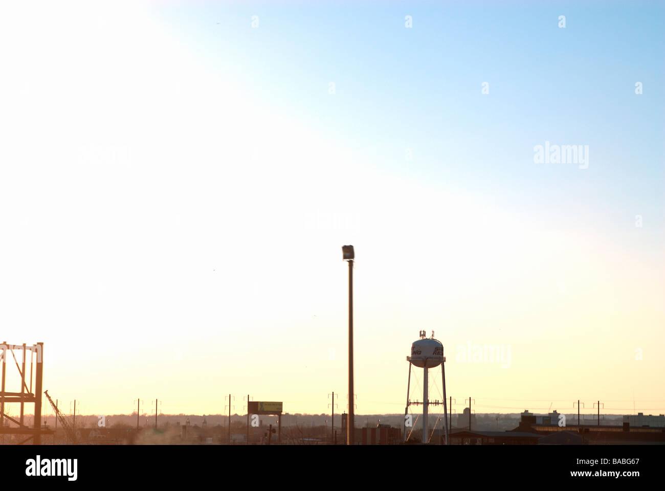 Industrie-New York-USA Stockbild
