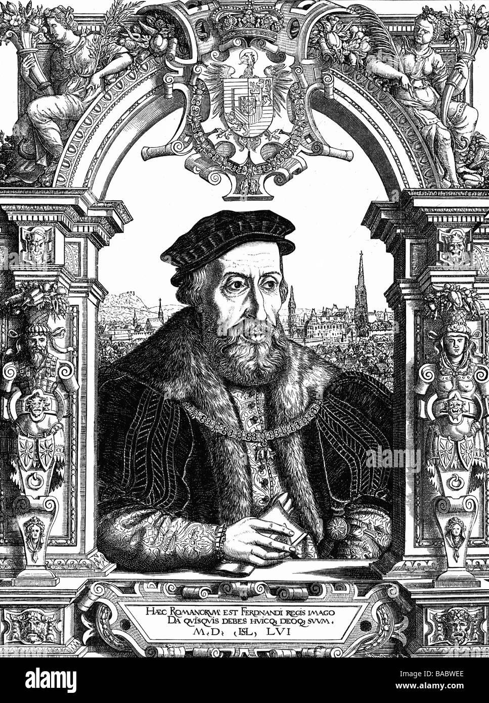 Ferdinand i., 10.3.1503 - 25.7.1564, römisch-deutscher Kaiser 24.3 ...