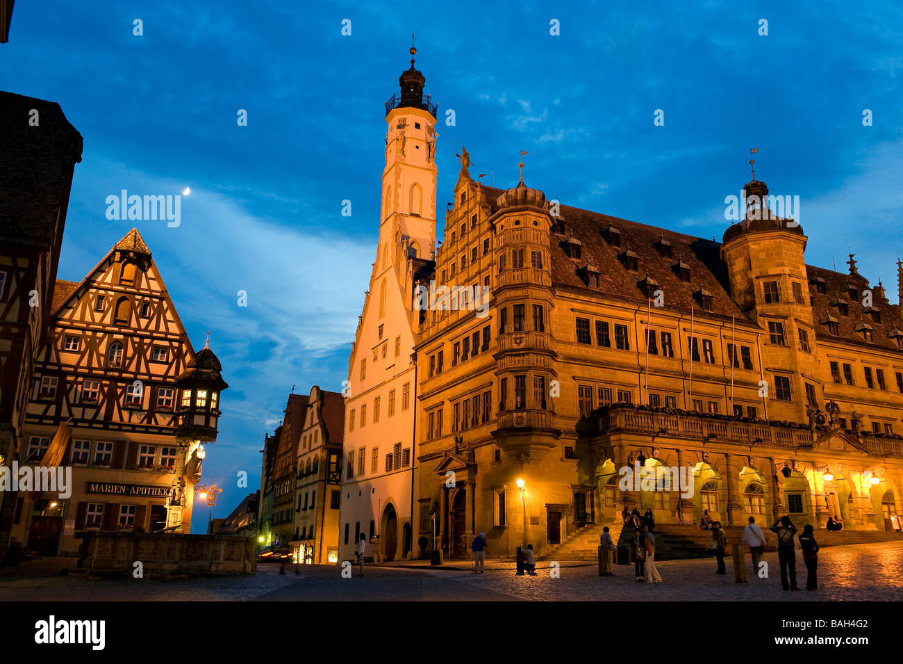 deutschland bayern romantische stra e romantische stra e rothenburg ob der tauber stockfoto. Black Bedroom Furniture Sets. Home Design Ideas