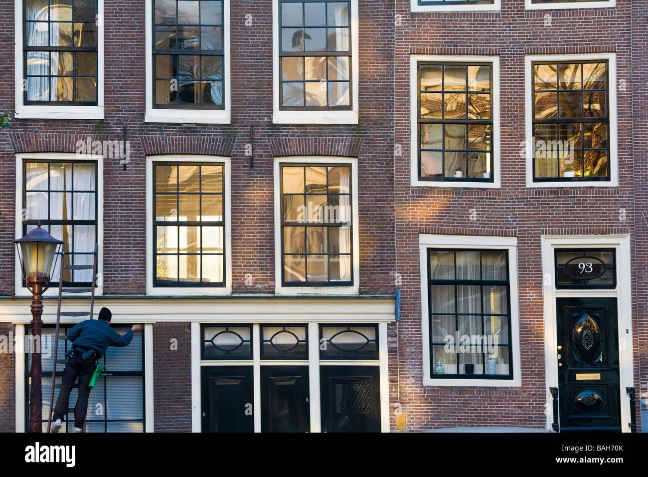 Fenster Reiniger Amsterdam Niederlande Stockfoto Bild 23735619 Alamy