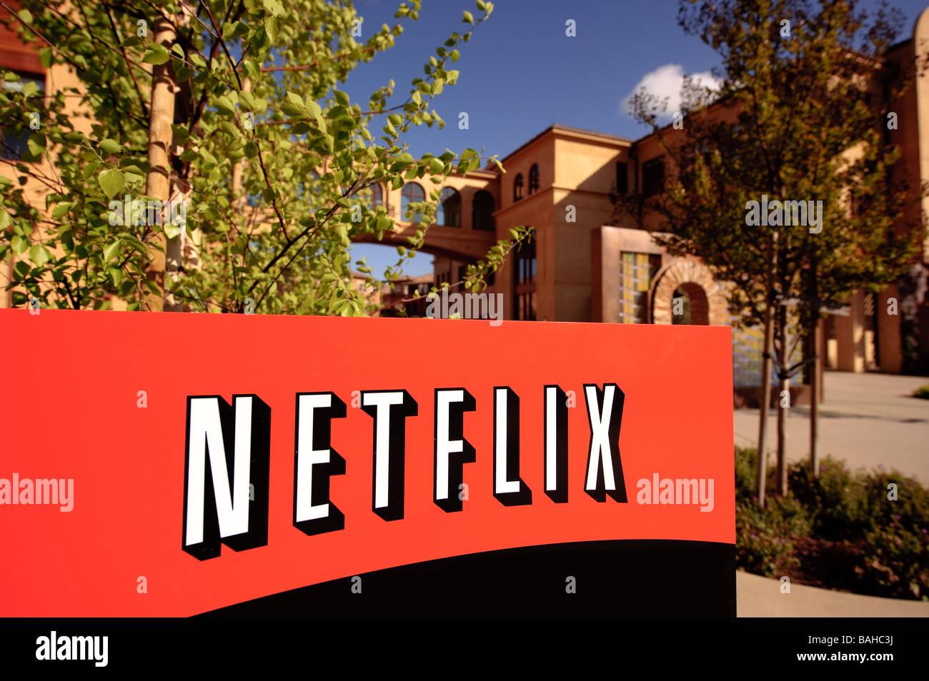 Hauptsitz von Netflix Inc auf Winchester BLVD in San Jose, Kalifornien. Stockbild