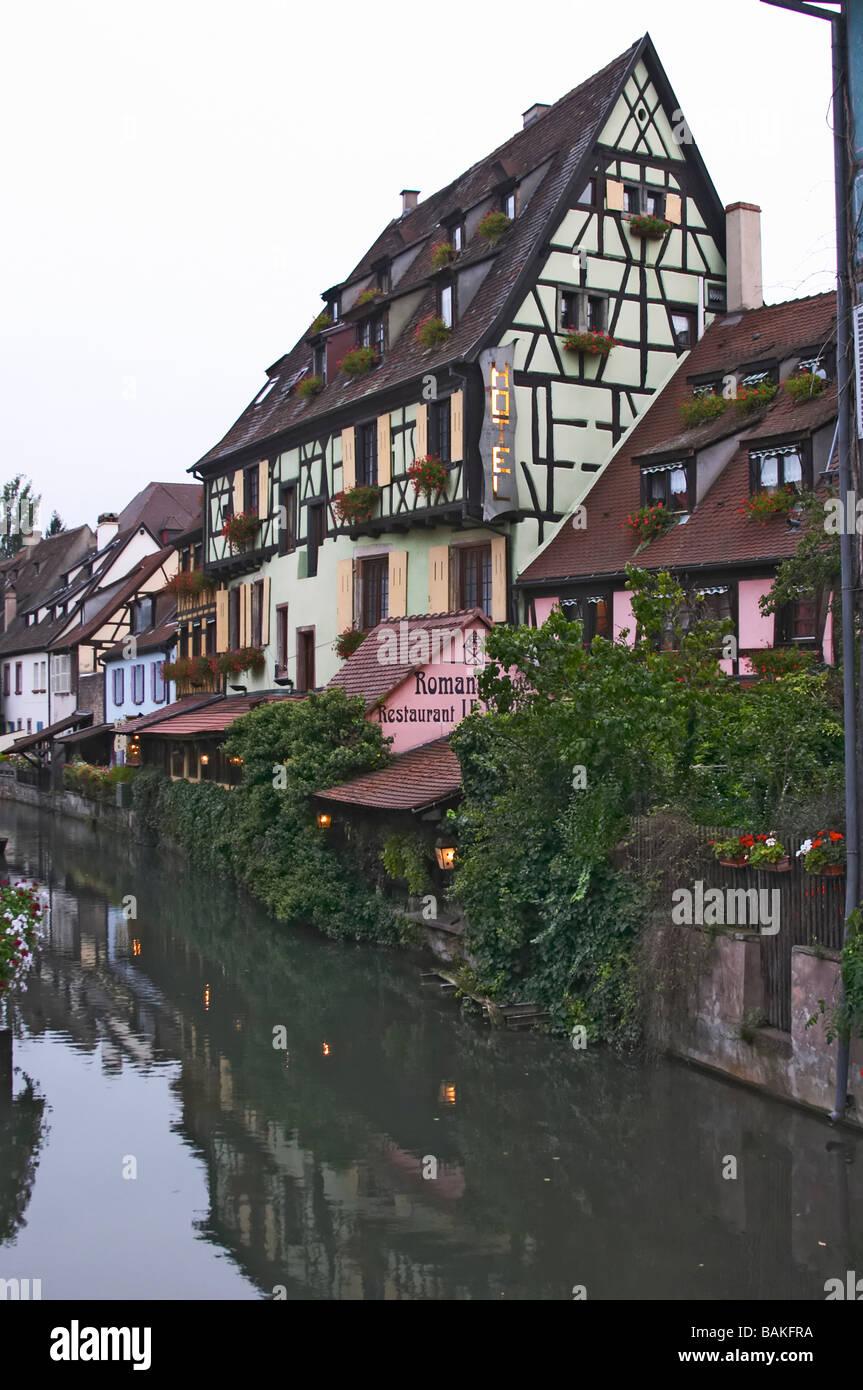 "Klein-Venedig ""petite Venise"" Romantik Hotel Colmar Elsass Frankreich Stockbild"