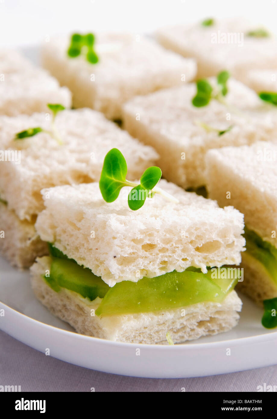 Gurken-sandwiches Stockfoto