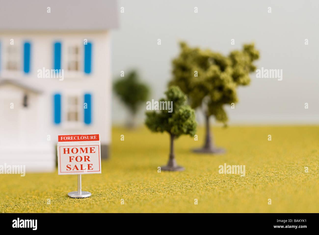 Haus Zwangsversteigerung Stockbild