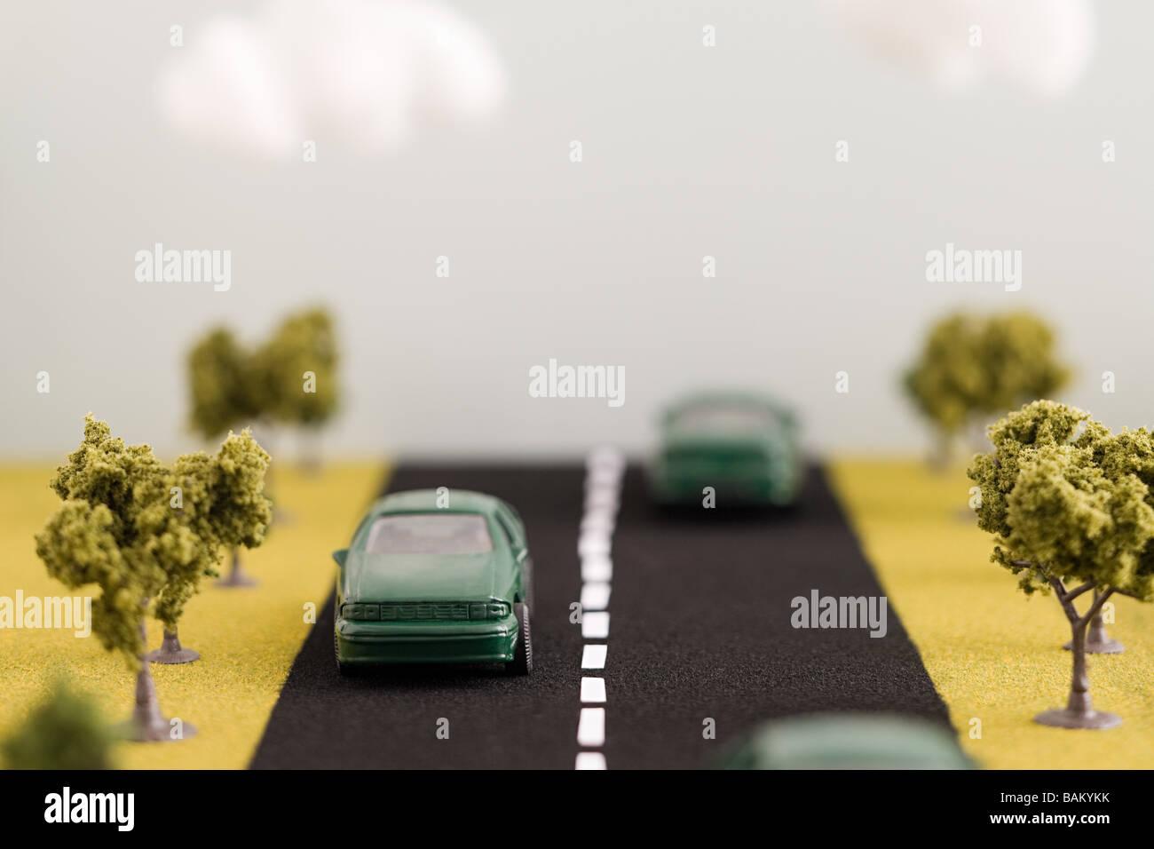 Elektro-Autos auf der Straße Stockbild