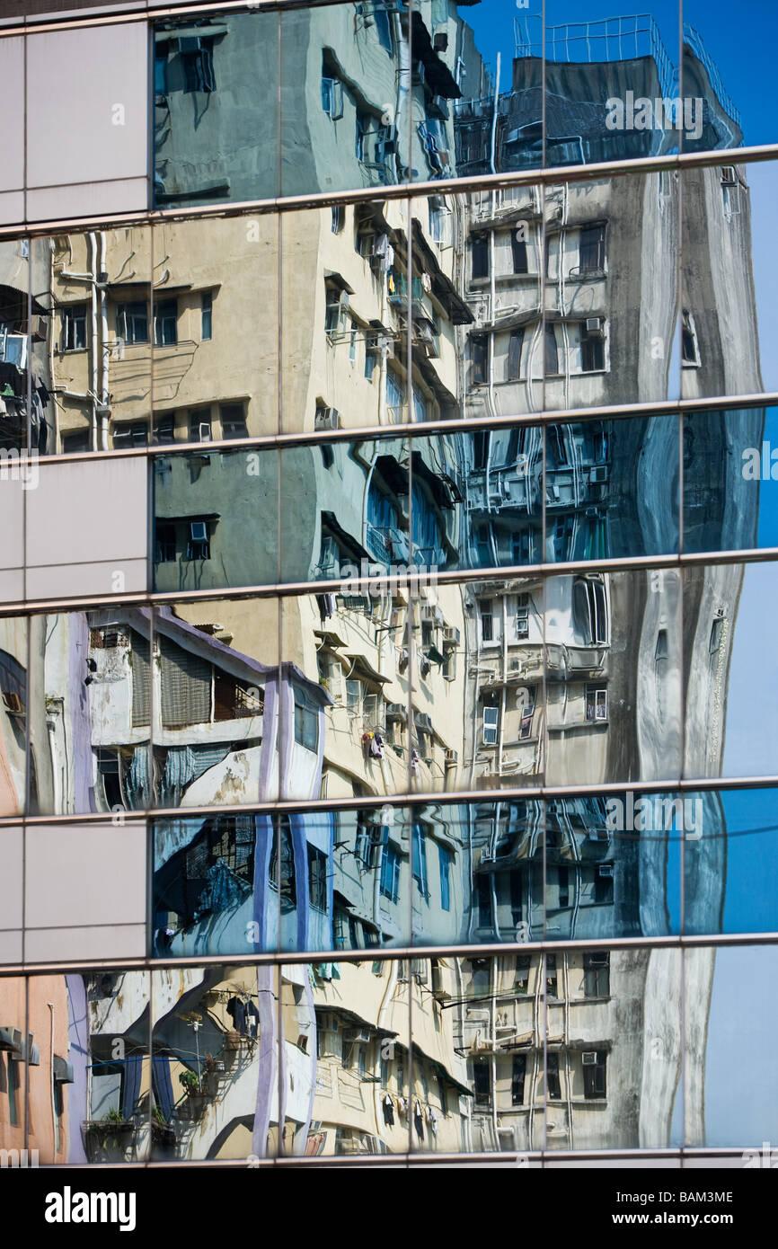 Wolkenkratzer in Hongkong Stockbild