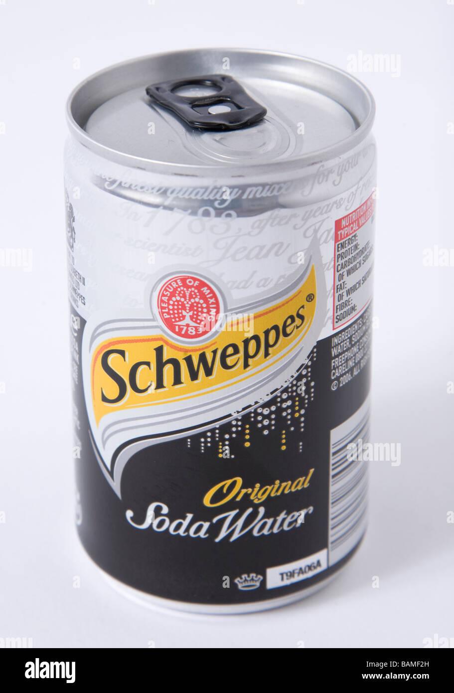 Schweppes Soda kleine können Stockbild