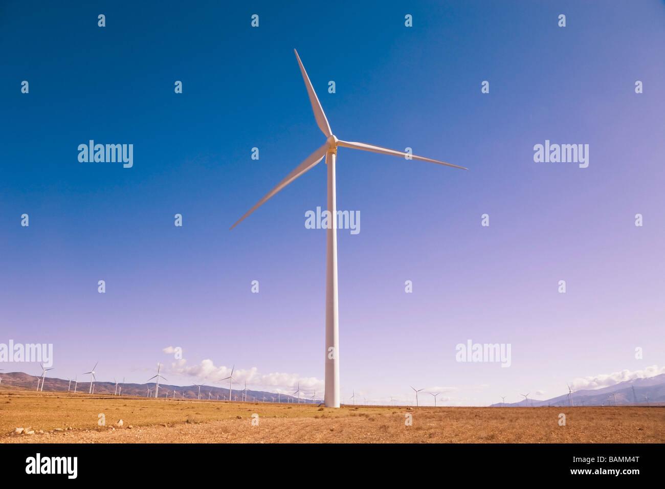 La Calahorra, Provinz Granada, Spanien; Windturbine Stockbild
