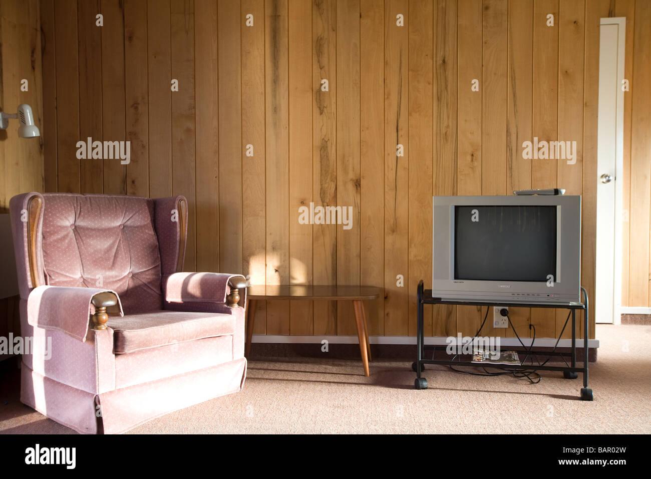 Interieur Aus Einem Einfachen Wohnzimmer Stockbild