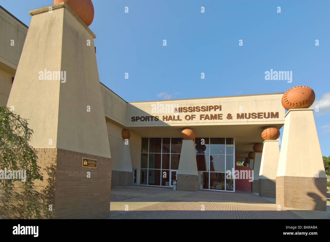 Mississippi Sports Hall of Fame and Museum in Jackson, Mississippi Stockbild