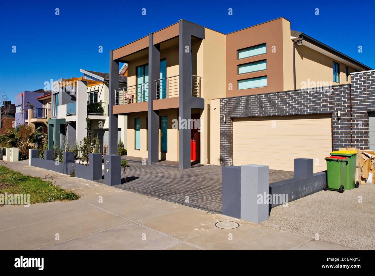 Wohnungswirtschaft / neue zeitgenössische Wohn-Häuser. Melbourne ...