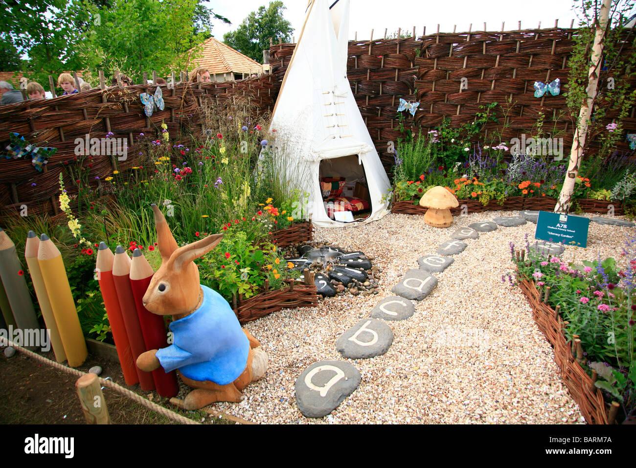 Trittsteine Garten kinder lernen mit buchstaben gekennzeichneten trittsteine garten