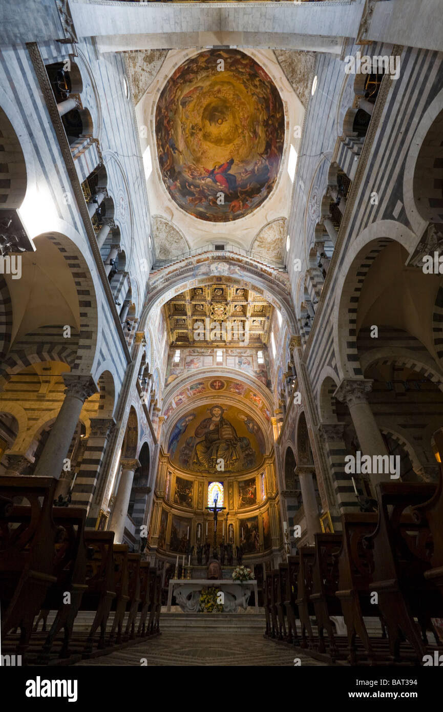 Das Innere der Kathedrale von Pisa (Toskana - Italien). Intérieur De La Cathédrale de Pise (Toscane - Stockbild