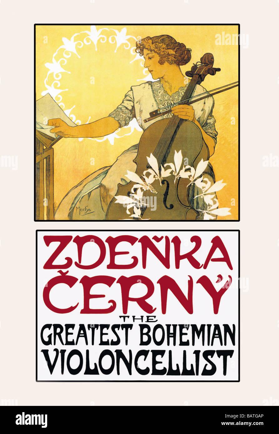 Zdenka Cerny: Die größten böhmischen Cellisten Stockfoto