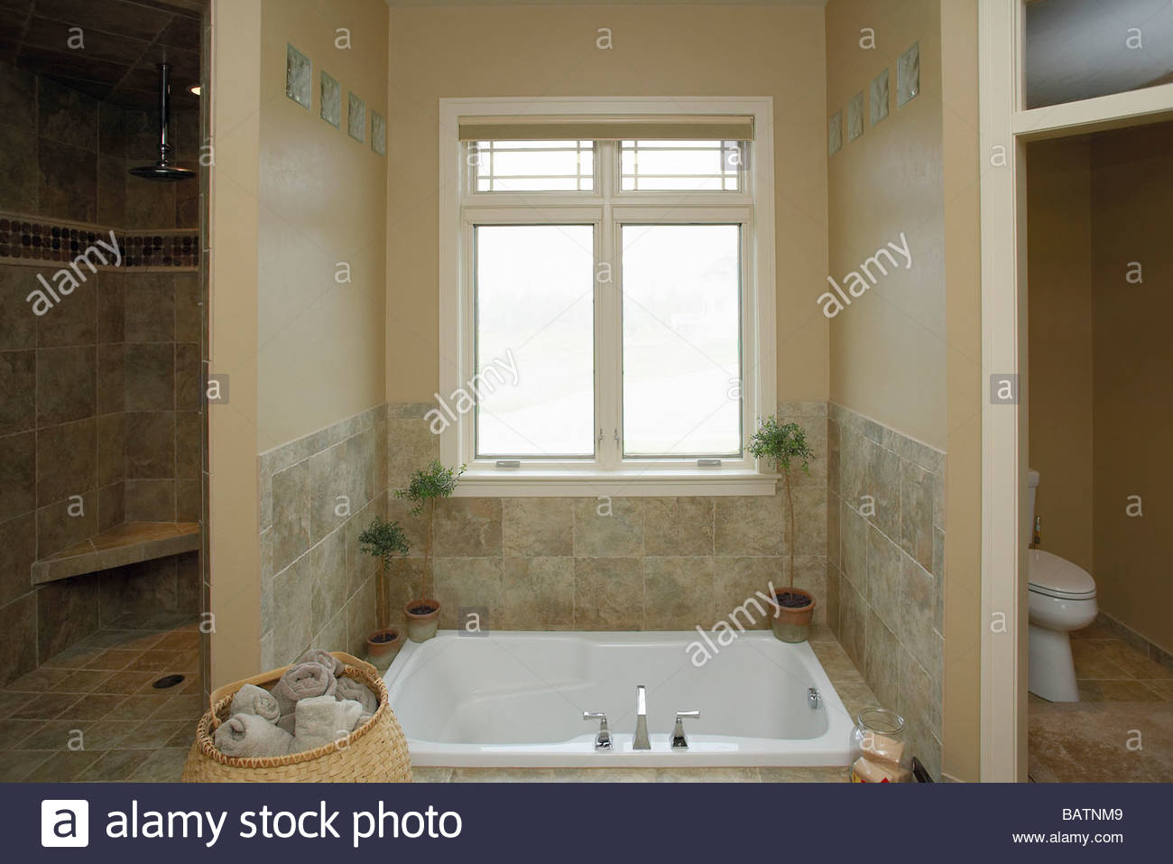Marmorbad Mit Versenkte Badewanne Stockfoto Bild 23900809 Alamy