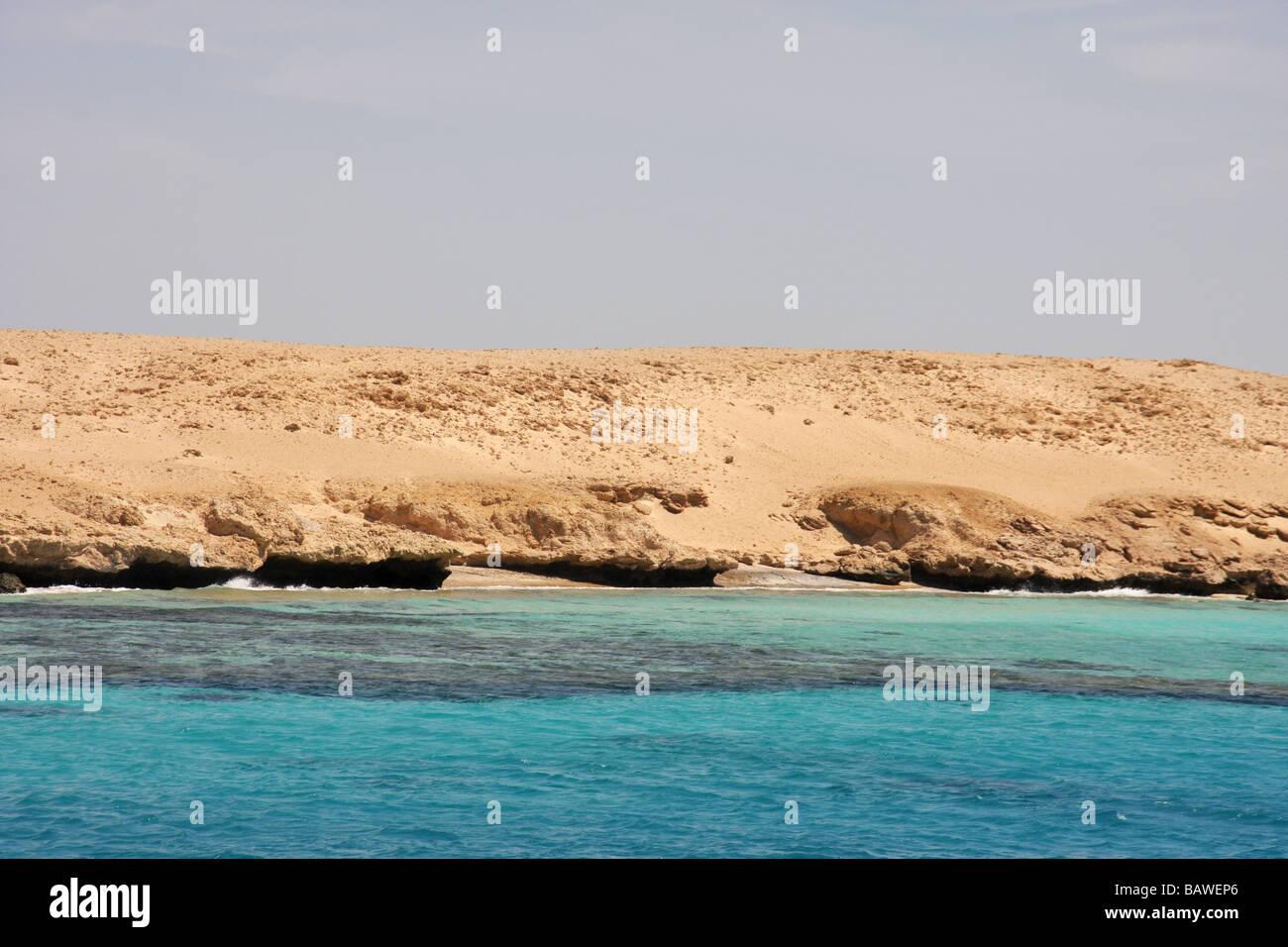 Tiran Insel vor der Küste von Sharm el sheikh Stockbild