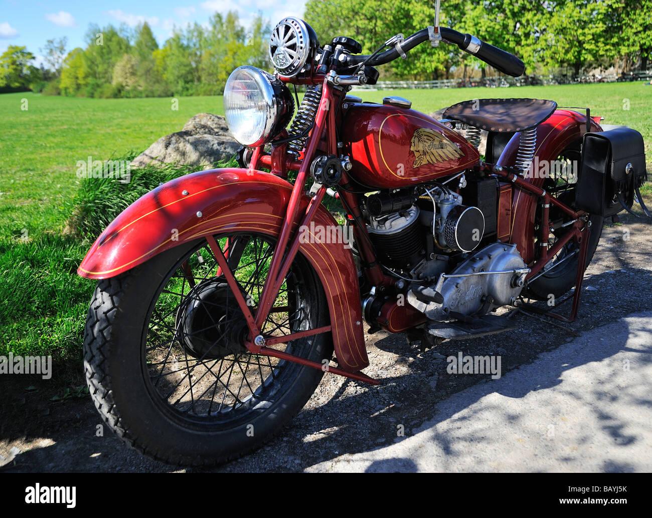 Legendäre indische Motorrad Stockbild