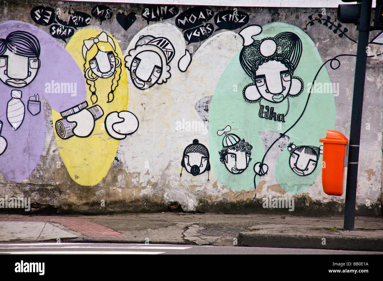 Graffiti in einem verlassenen Teil von Rio De Janeiro Brasilien Stockfoto