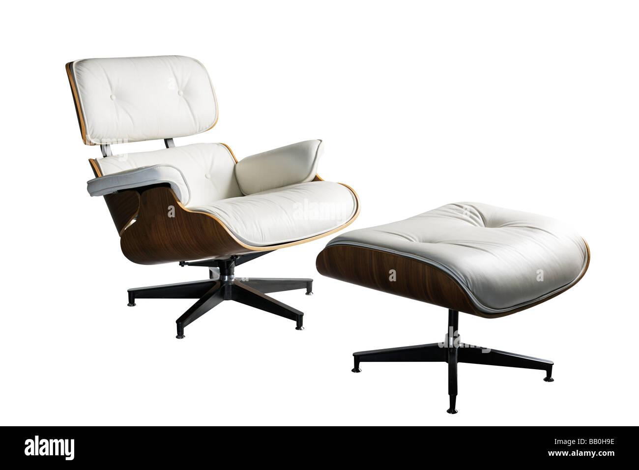 charles ray eames designer leder stuhl lounge und ottoman hocker stockfoto bild 23985178 alamy. Black Bedroom Furniture Sets. Home Design Ideas