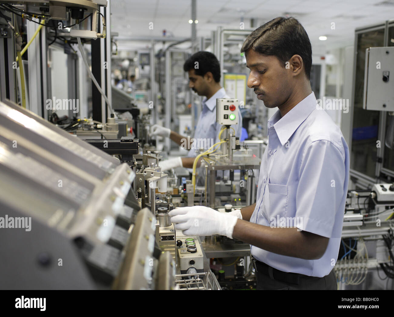 Indien-Mitarbeiter bei Bosch Ltd Bangalore Indien Stockbild