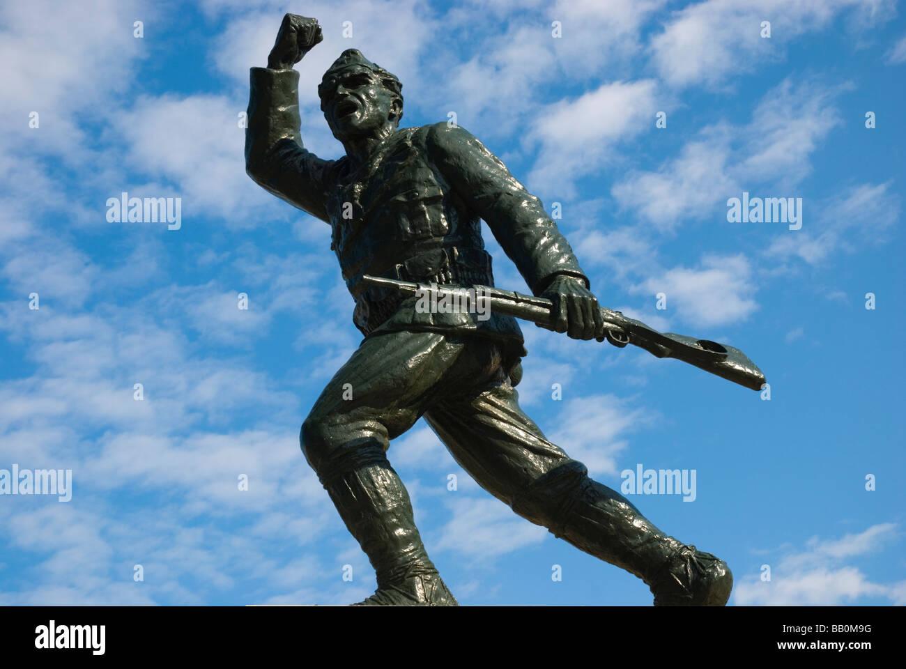 Statue des unbekannten Partisanen in Mitteleuropa Tirana-Albanien Stockfoto