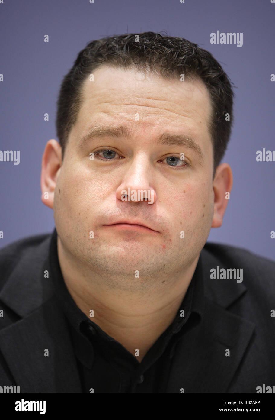 Alexander BONDE Haushaltspolitischer Sprecher der Bundestagsfraktion Buendnis 90 sterben Gruenen Berlin Deutschland Stockbild