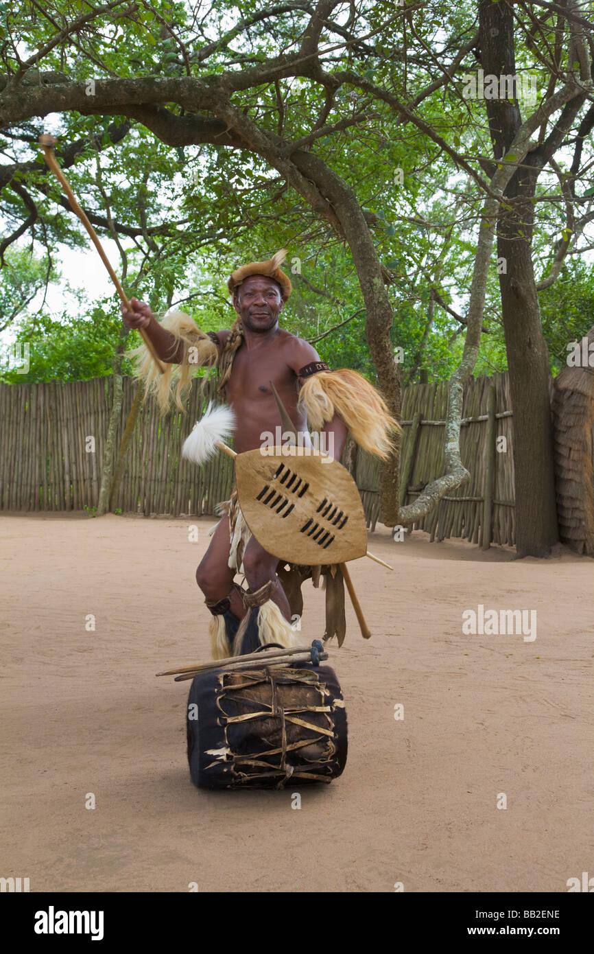 """Zulu Krieger, KwaZulu Natal, """"Südafrika"""" Stockbild"""