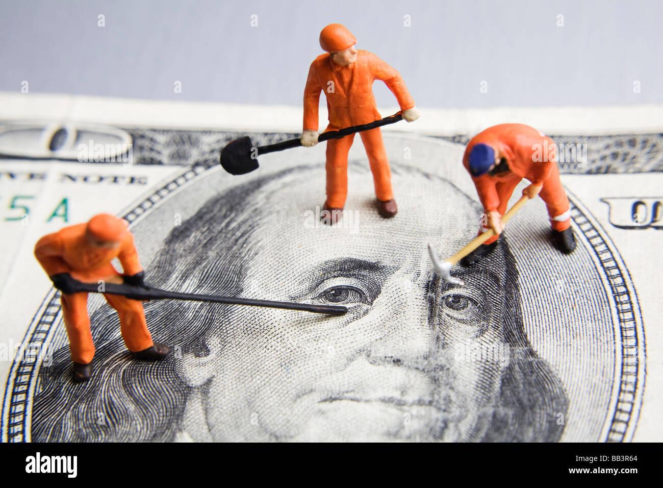 Festsetzung der Wirtschaft Stockbild