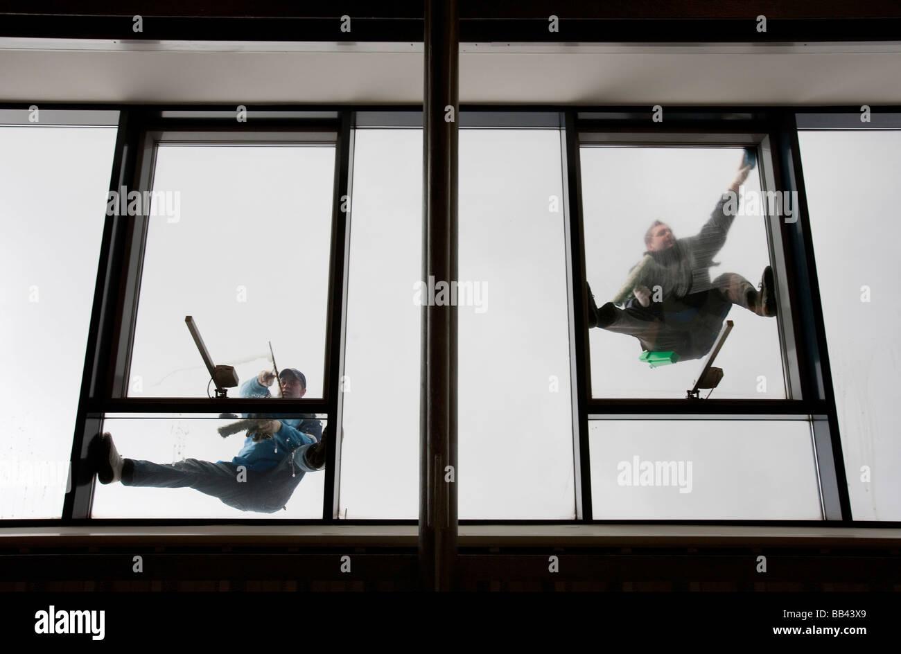 Fensterputzer Stockbild