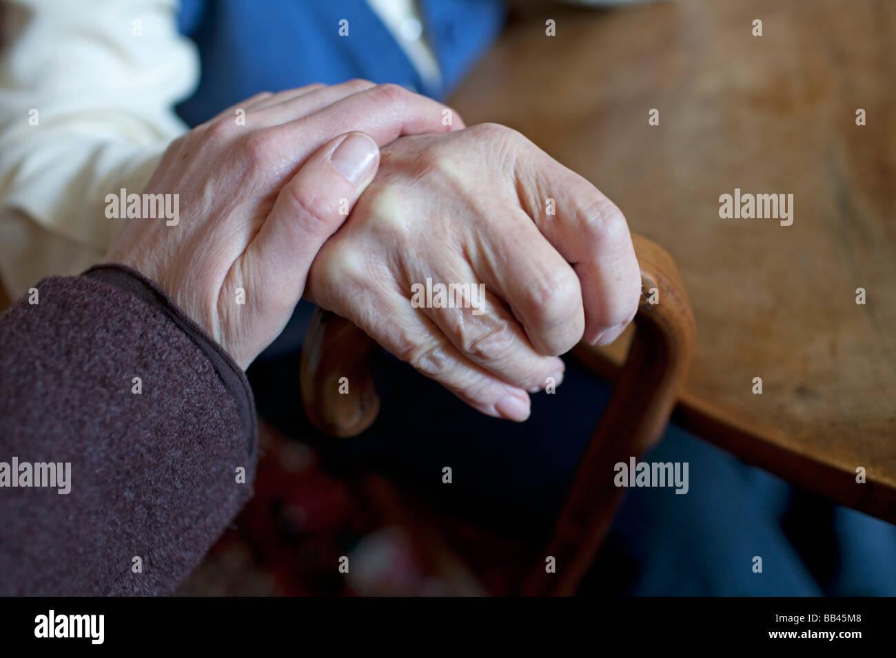 Senior und Tochter Stockbild