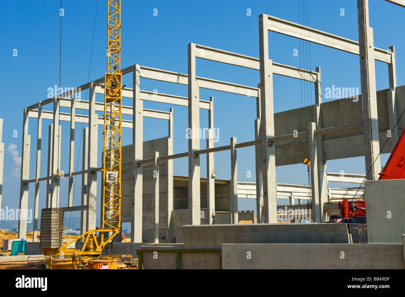 neues modernes Gebäude Haus Investition Leichtbauteile funktioniert bauen Website Bau Website Fabrik Werk Struktur Stockbild