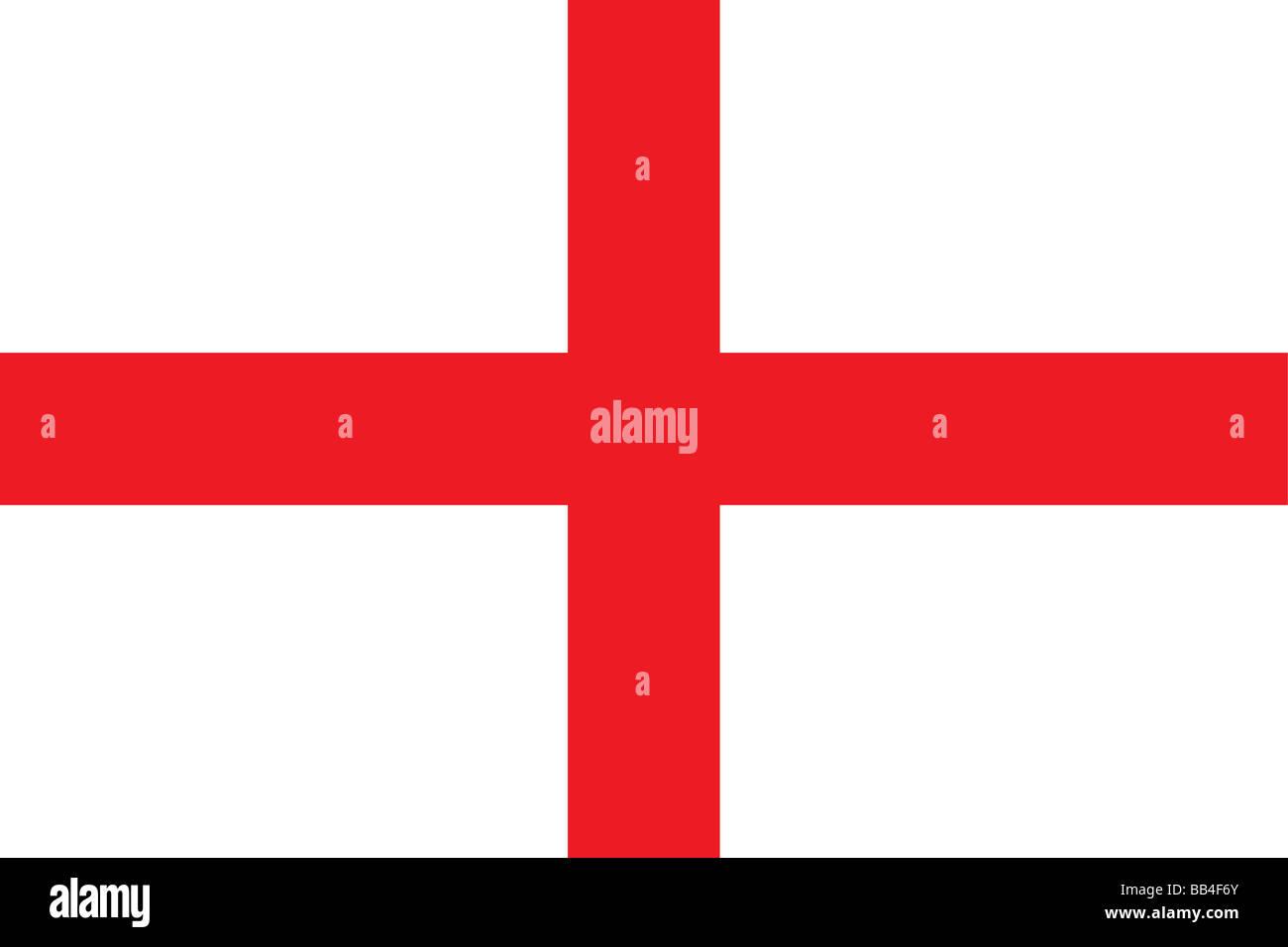 Flagge von England, die vorherrschende konstituierenden Einheit des Vereinigten Königreichs, besetzen mehr als die Hälfte der Insel Großbritannien. Stockfoto