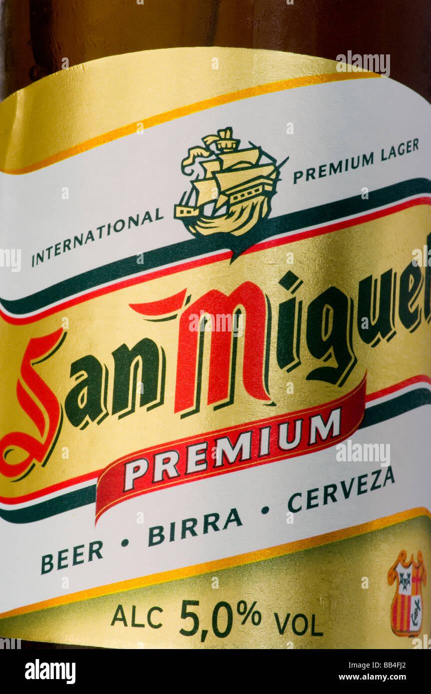 spanisches bier san miguel flaschenetikett stockfoto bild 24071658 alamy. Black Bedroom Furniture Sets. Home Design Ideas