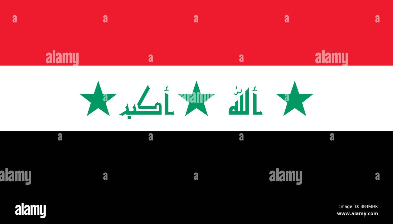 Flagge des Irak, historische (bis 2008) Stockbild