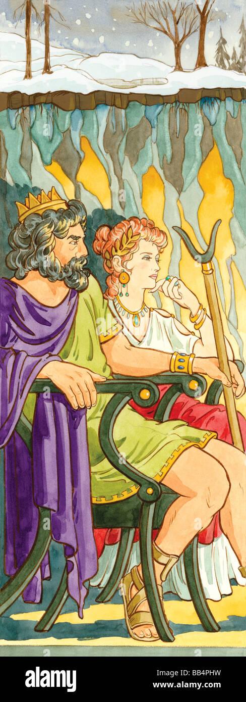 In der griechischen Mythologie war Hades Gott der Unterwelt. In der griechischen und römischen Mythologie hieß Stockbild