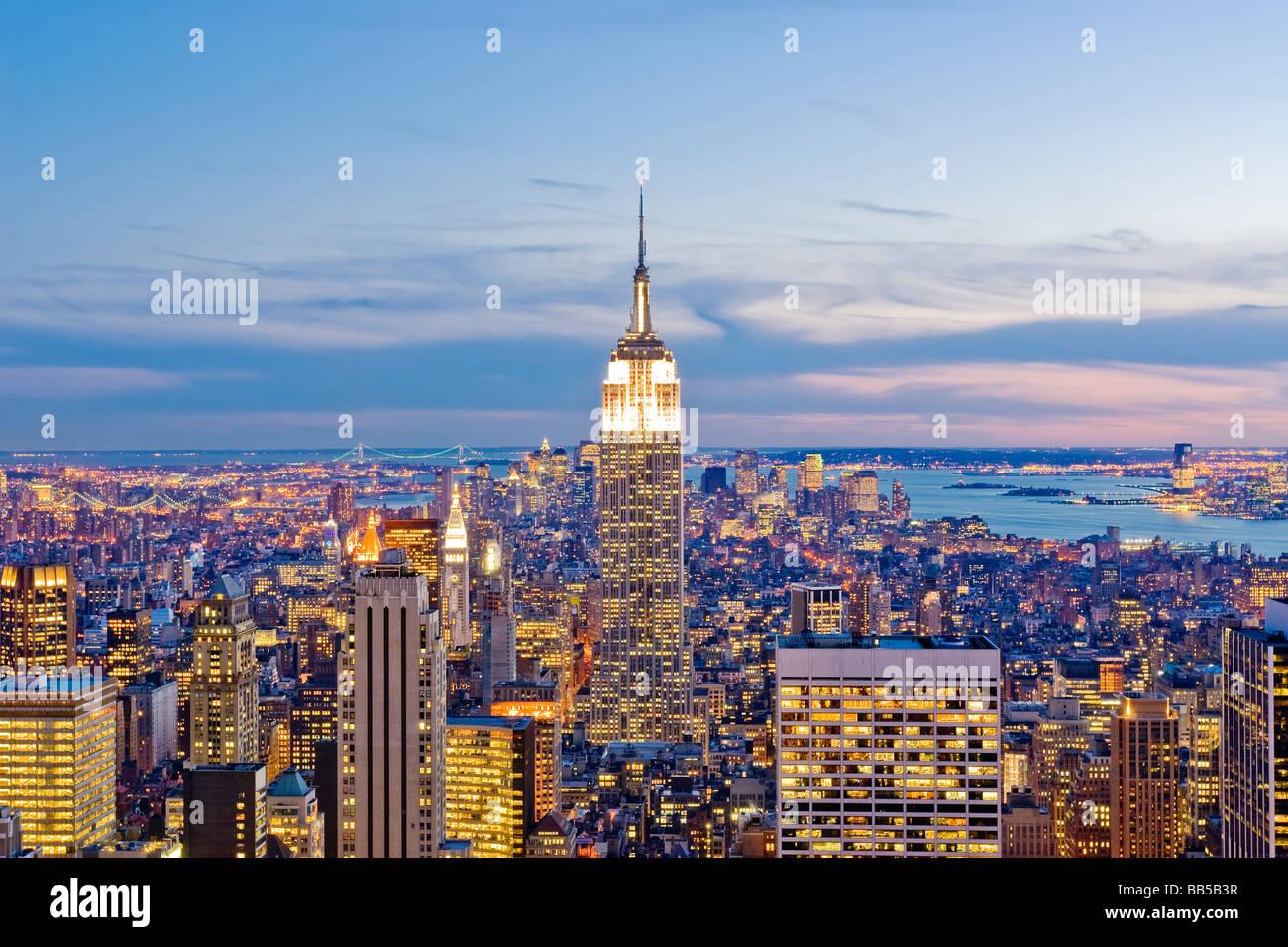 Überblick über Manhattan Stockbild