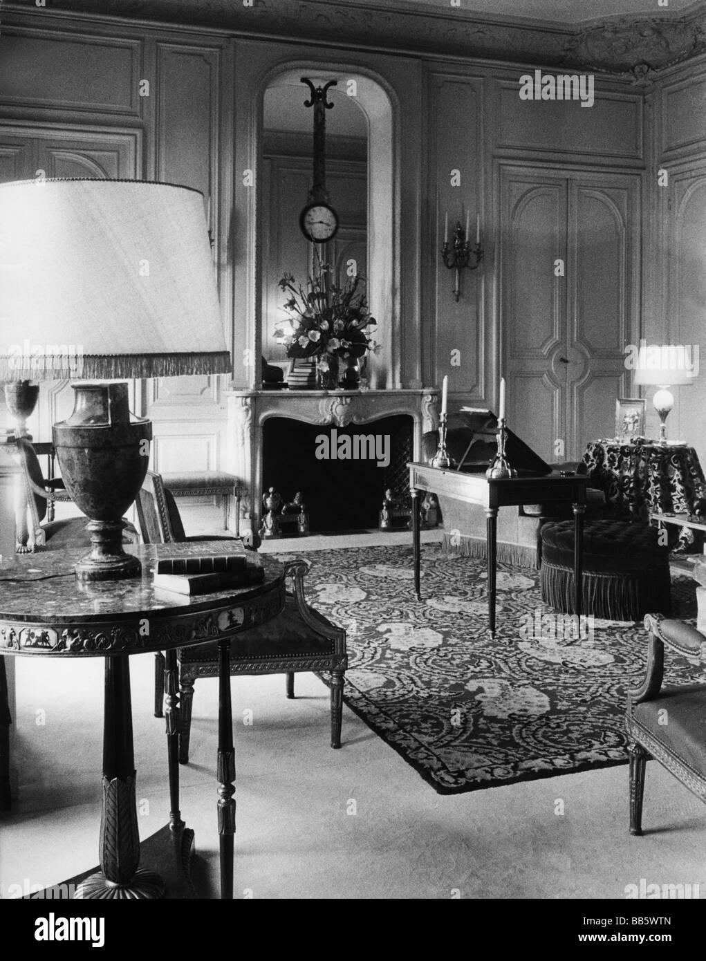 Interior Design, 1950er Jahre, Salon, Additional-Rights-Spiel-NA ...